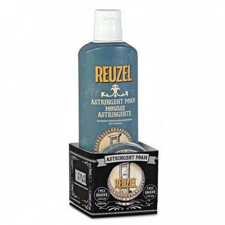 Espuma Astringente para después del afeitado 200ml + Crema de Afeitado de Regalo 28,5g