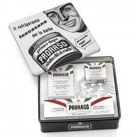 Metallic Box Shaving Vintage Proraso White