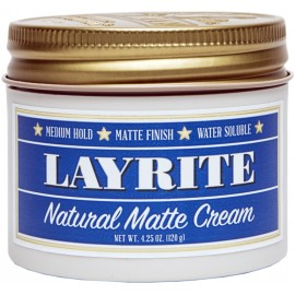 Layrite Natural Matte Cream Pomade 120g - Hair Setting Ointment