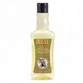 Champú diario para el pelo REUZEL 3 en 1 de Árbol de Té
