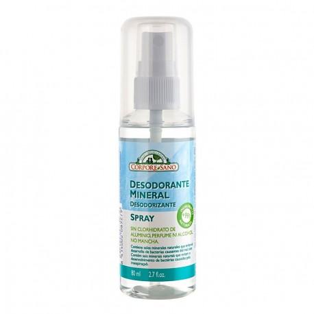 Desodorante Mineral de Alumbre en Spray 80ml - Cosmética para Hombre de Barberius