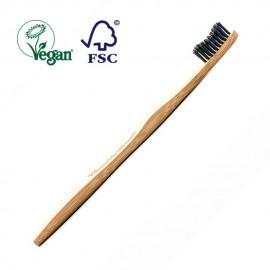 Cepillo de Dientes Mango de Bambú y Cerdas de Nilon Biodegradable - Carbón