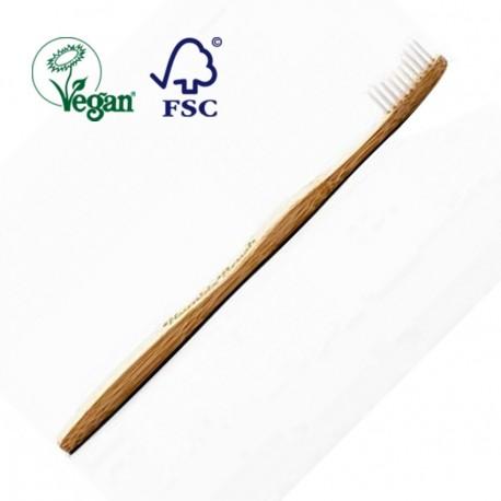 Cepillo de Dientes Mango de Bambú y Cerdas de Nilon Biodegradable - Blanco