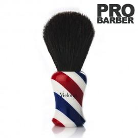Brocha Barbera Profesional BarberShop de Pelo de Caballo Negro