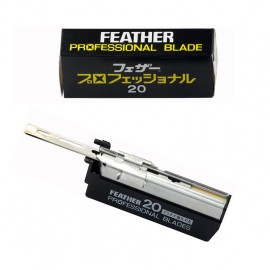 20 Cuchillas Feather Professional Blades Dispensador de 20 Hojas