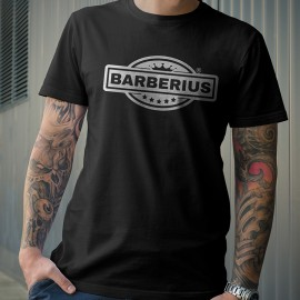 Camiseta Barberius Calidad Premium Color Negro 100%