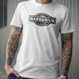Camiseta Barberius Calidad Premium Color Blanco 100%