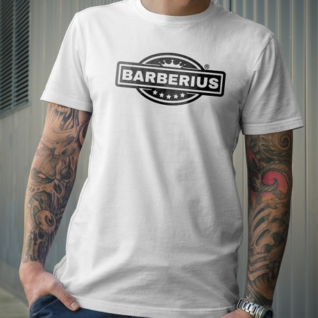 Camiseta manga corta Barberius Calidad Premium Color Blanco