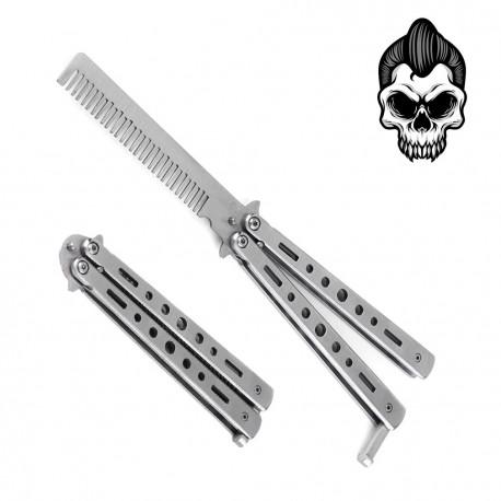 Rockabilly Chrome Steel Comb
