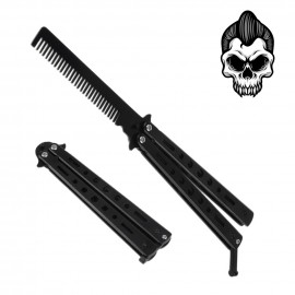 Rockabilly Black Steel Comb