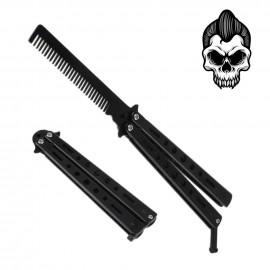 Rockabilly Black Steel Comb