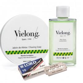 Jabón de Afeitar + Loción + 10 Cuchillas Lord de Vielong