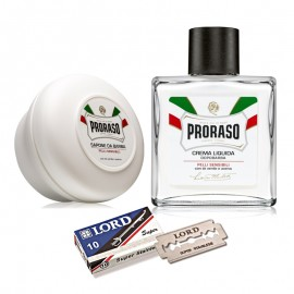 Jabón de Afeitar + Loción + 10 Cuchillas Lord de Proraso