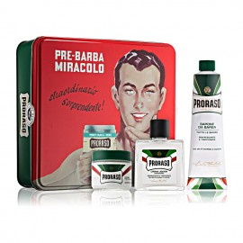 Metallic Case Shaving Box Proraso Green