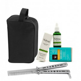 Ecologic Beard Care Pack with Foldable Metal Comb
