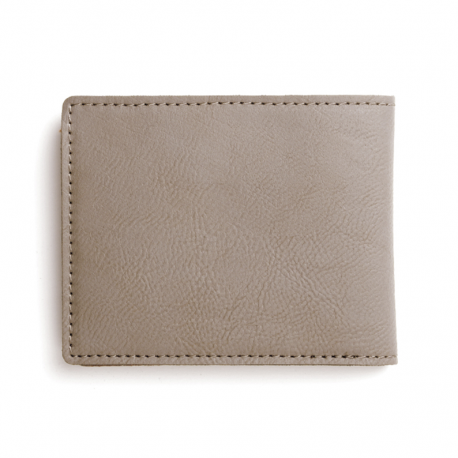 Billetera - Tarjetera para hombre en acabado piel color marrón claro