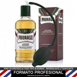 PROFESSIONAL Lotion Sandalwood for after shaving Proraso PROFESSIONAL 400ml + Spray