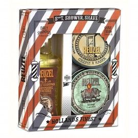 REUZEL Shaving Cream and Shampoo + Candle Set - Classic Shave - SHOWER & SHAVE