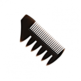 Mini Comb Classic Tri-Comb D3 without handle for Beard and Mustache