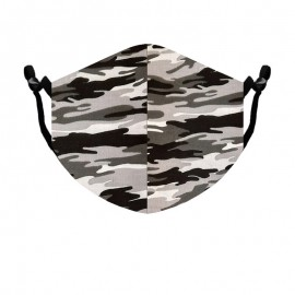 Beard Mask Standard size Camouflage Gray color