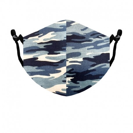 Mascarilla para Barba tamaño Estándar color Camuflaje Azul