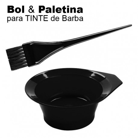 Bol y Paletina para Preparación Tinte de Barba y Cabello