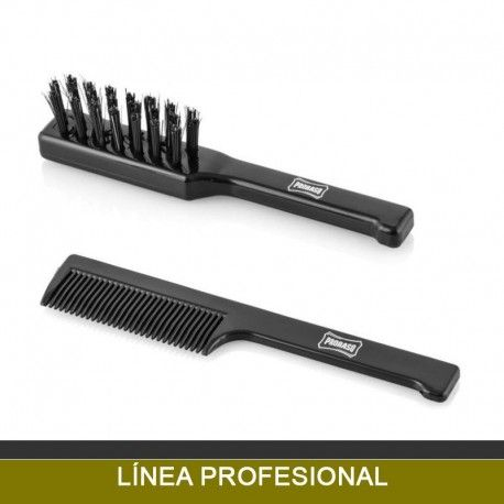 Comb and brush for Beard and Mustache Proraso