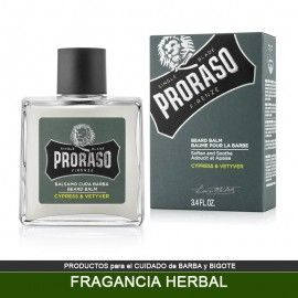 Balsamo PRORASO para Barba fragancia Herbal 100ml - Cypress Vetyver