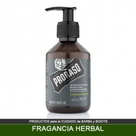 Champú PRORASO para Barba fragancia Herbal 200 ml