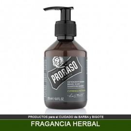 Champú PRORASO para Barba fragancia Herbal - Cypress Vetyver 200 ml