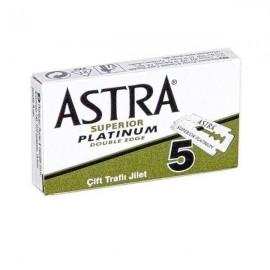 Cajita Cuchillas ASTRA Superior Platinum Double Edge 5 Hojas Afeitado