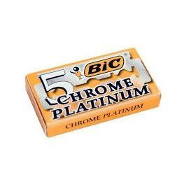 Box Bic Chrome Platinum Blades - 5 Blades Shaving