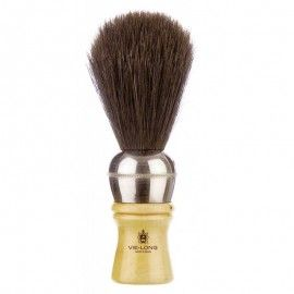 VieLong Classic Razor Brush Natural Horsehair 11cm