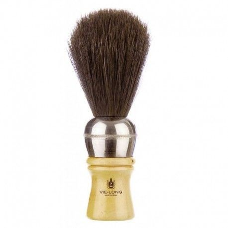 VieLong Classic Razor Brush Natural Horsehair 11cm